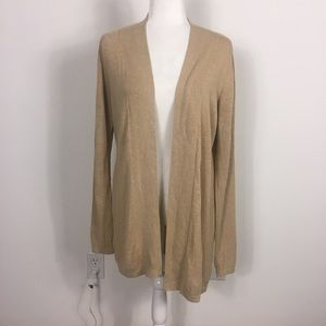 Vineyard Vines Superfine Wool Tan Open Cardigan